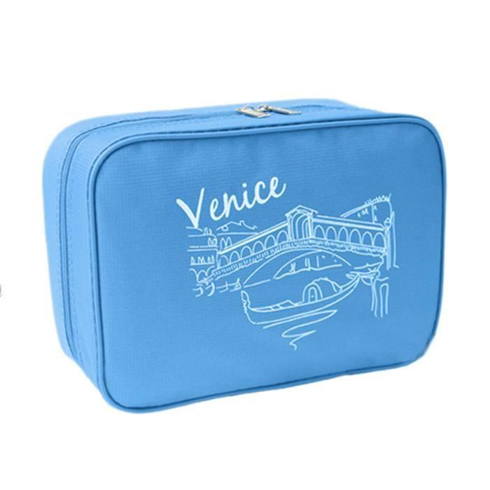 trousse de toilette sacoche 224 maquillage sac rangement imperm 233 able femme voyage bleu achat