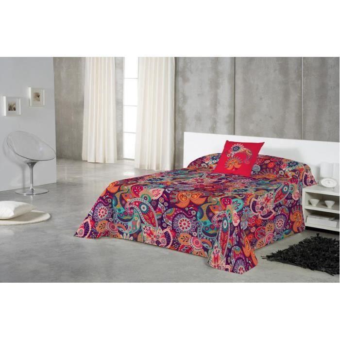 euromoda jet de canap couvre lita delhi 180x260 achat vente jet e de lit boutis. Black Bedroom Furniture Sets. Home Design Ideas
