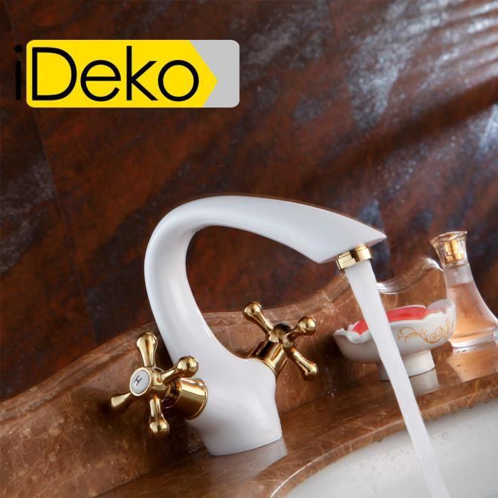 ideko robinet mitigeur lavabo salle de bain en laiton rotation style japonais moderne c ramique. Black Bedroom Furniture Sets. Home Design Ideas