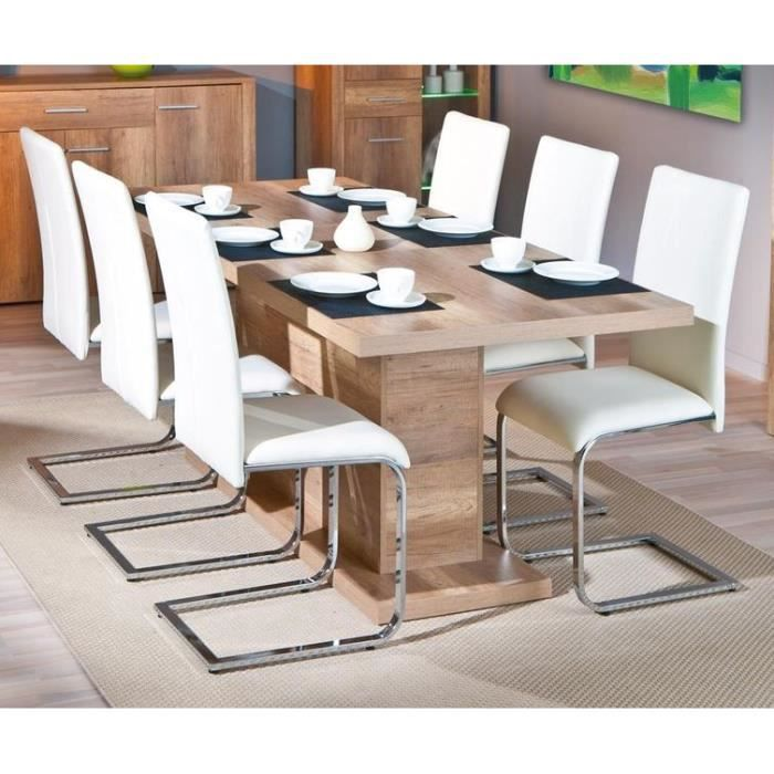 table rectangulaire 1 allonge absoluto 20 brut achat vente table a manger seule table. Black Bedroom Furniture Sets. Home Design Ideas
