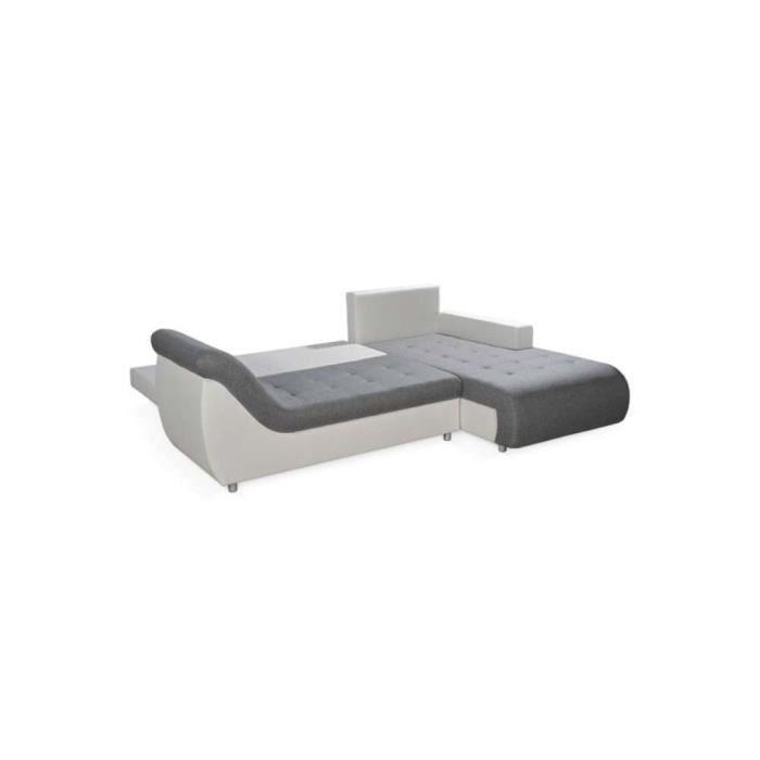 justhome linea canap d 39 angle couleur brun a48 h x l x l 79 x 190 x 257 cm achat vente. Black Bedroom Furniture Sets. Home Design Ideas