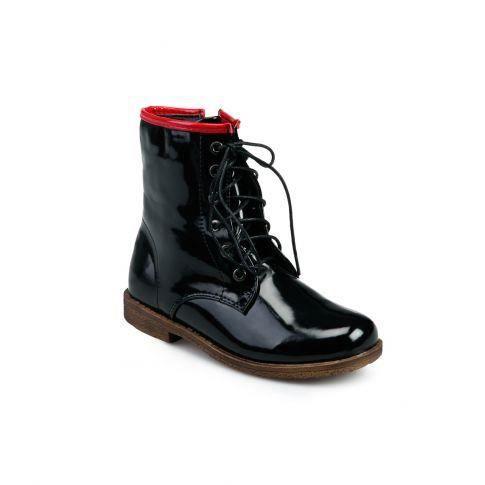 lace boots junior noir vernis achat vente lace. Black Bedroom Furniture Sets. Home Design Ideas