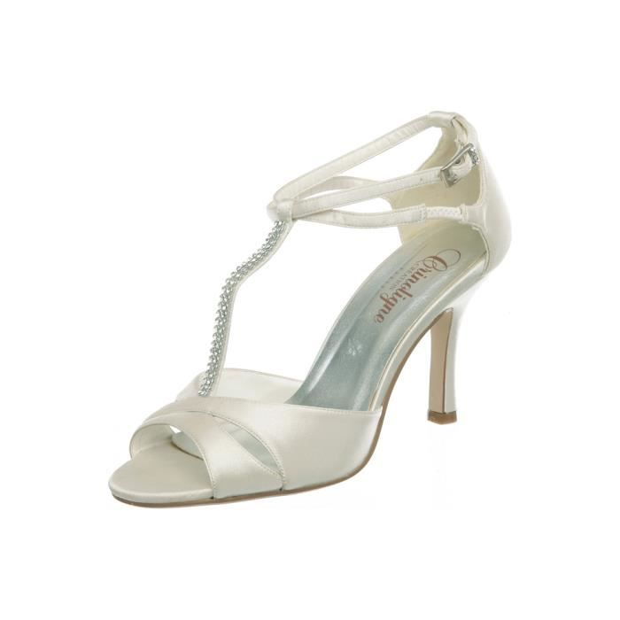chaussures ivoire - Chaussures Compenses Blanches Mariage