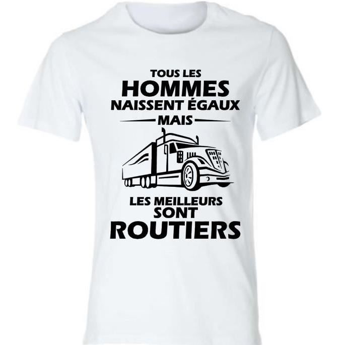 tee shirt sp cial routiers t shirt personnalis id e. Black Bedroom Furniture Sets. Home Design Ideas