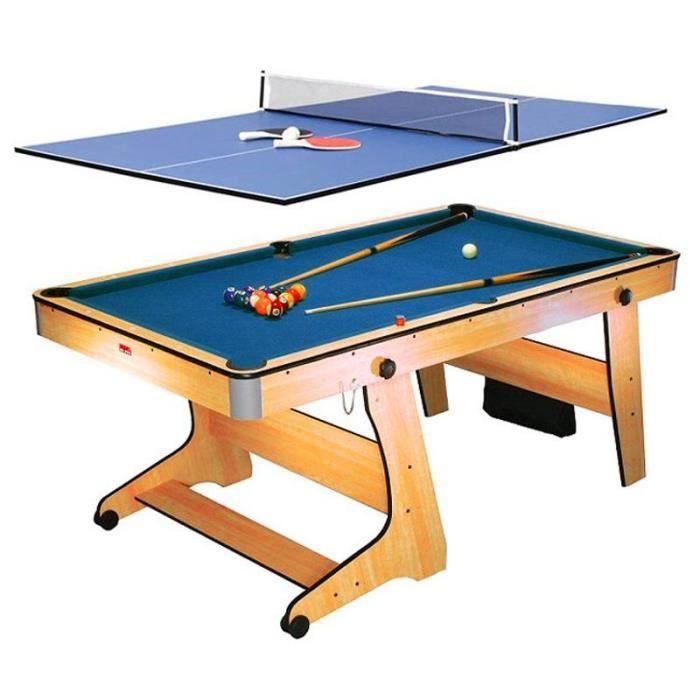 riley fp 6tt table de jeux multifonction table de ping pong et billard pliable tous les. Black Bedroom Furniture Sets. Home Design Ideas