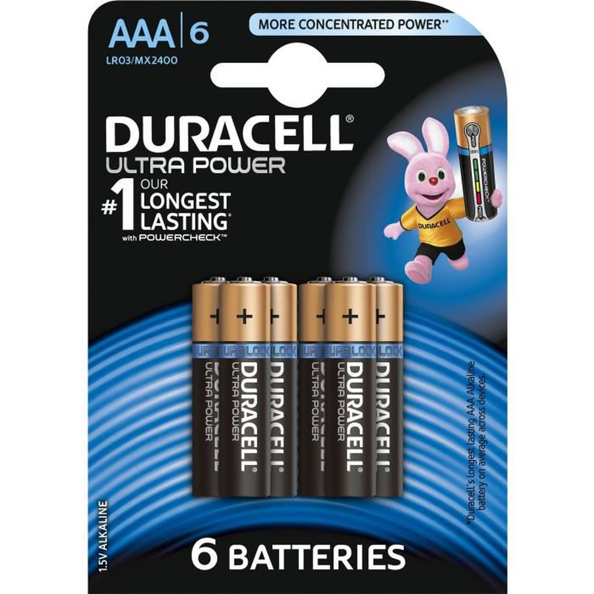 pile duracell aaa x6 ultra power lr03 achat vente piles soldes cdiscount. Black Bedroom Furniture Sets. Home Design Ideas