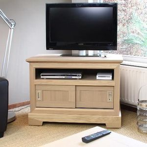 meubles tv en chene massif achat vente meubles tv en. Black Bedroom Furniture Sets. Home Design Ideas