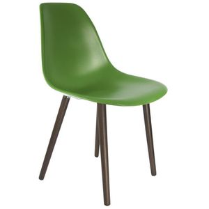 CHAISE Chaise Privee® - Chaise STW - (Vert Sapin - Noyer)