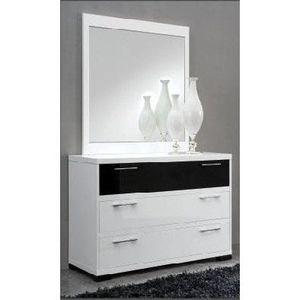 Commode miroir design achat vente commode miroir - Miroir noir et blanc ...