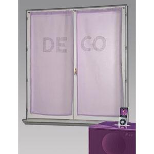 rideaux voilage parme achat vente rideaux voilage parme pas cher cdiscount. Black Bedroom Furniture Sets. Home Design Ideas