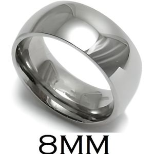 BAGUE ANNEAU ALLIANCE MARIAGE HOMME FEMME ACIER INOXYDABLE MIROIR 8mm ...