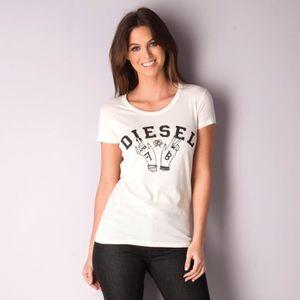 T-SHIRT T-shirt Diesel T-Mons pour femme en blanc cass