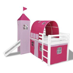 lit avec toboggan fille achat vente lit avec toboggan fille pas cher cdiscount. Black Bedroom Furniture Sets. Home Design Ideas