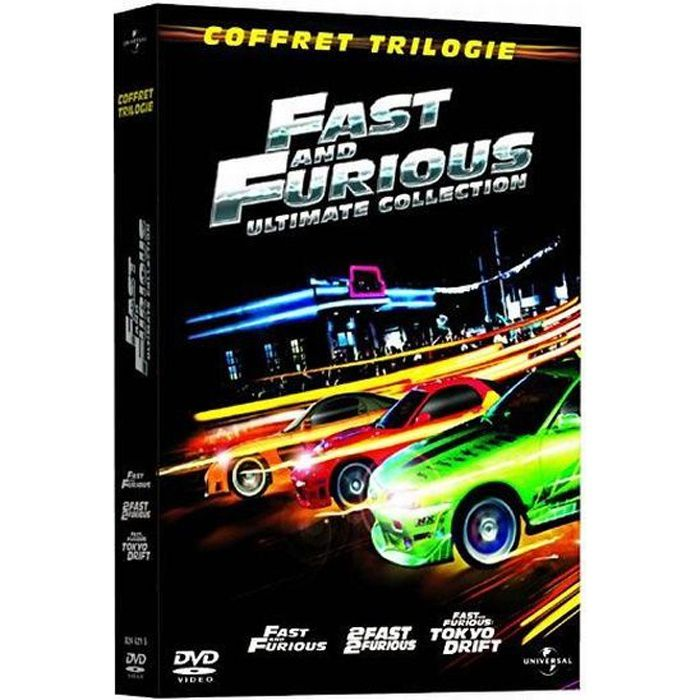 dvd coffret trilogie fast and furious fast an en dvd film pas cher cohen rob singleton. Black Bedroom Furniture Sets. Home Design Ideas