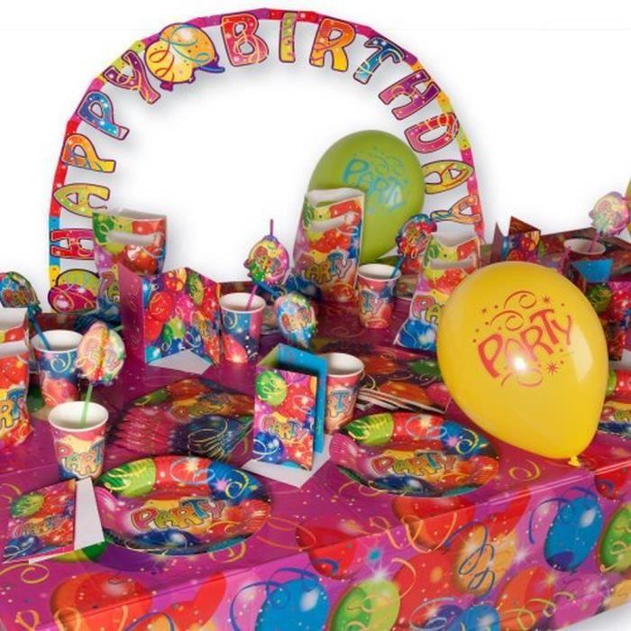 kit d coration anniversaire party ballon pour 6 achat vente ballon d coratif carton pvc. Black Bedroom Furniture Sets. Home Design Ideas