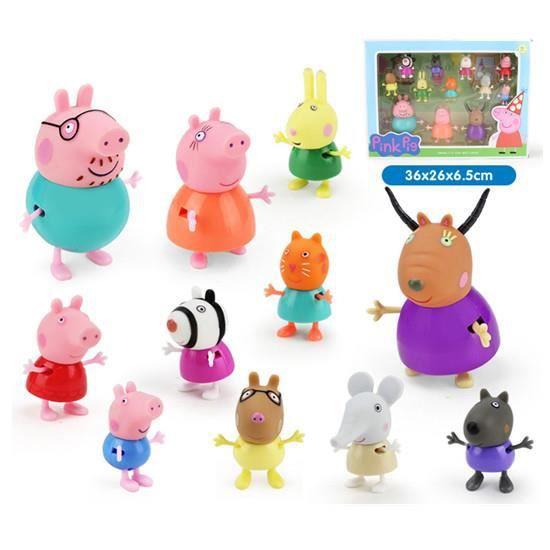 peppa pig et leurs amis jouez jouets maison poup 233 es 12pcs