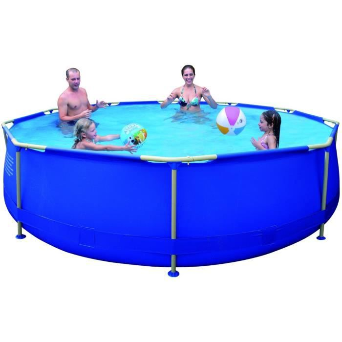Piscine tubulaire ronde punta cana 360x76cm achat for Liner piscine ronde 3 60