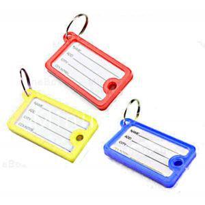 Lot de 9 etiquettes a bagage valise rouge bleu rouge for 1 porte etiquette de voyage