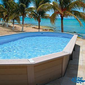 Piscine bois composite edg piscine en bois achat vente for Achat piscine bois