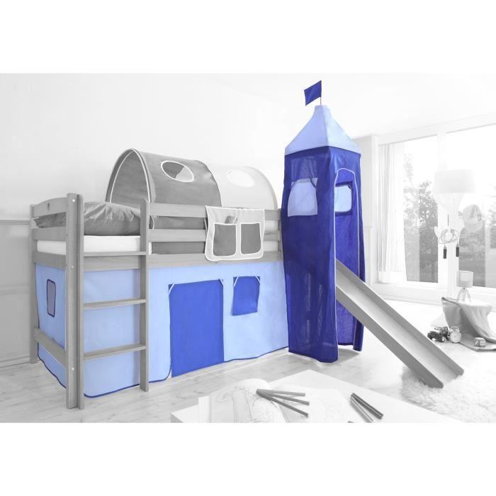 bleu clair bleu achat vente rideau cdiscount. Black Bedroom Furniture Sets. Home Design Ideas