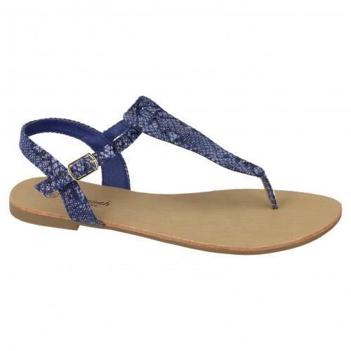 savannah trop ziennes imprim peau de serpent femme bleu achat vente sandale nu. Black Bedroom Furniture Sets. Home Design Ideas