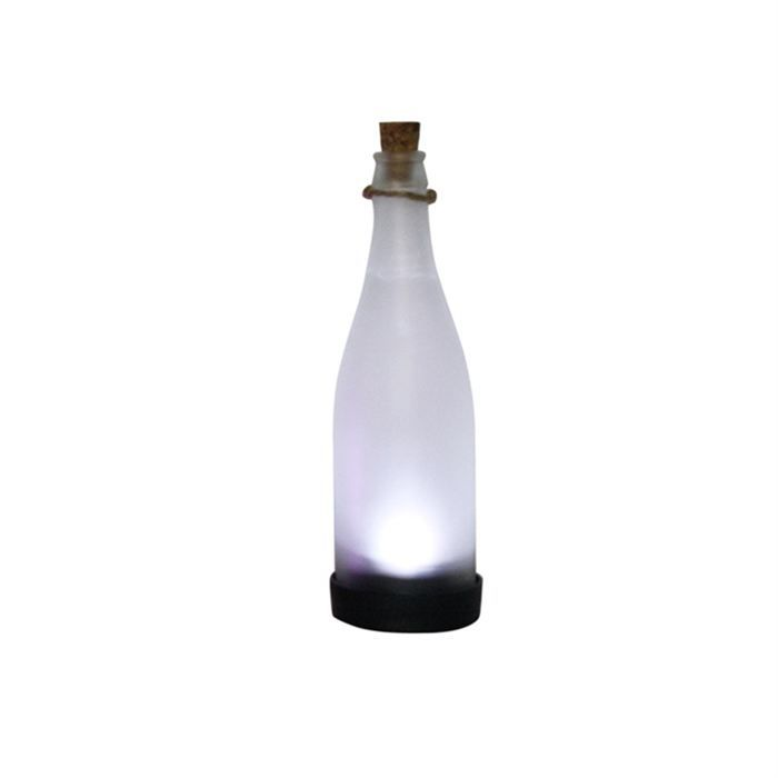 lampe solaire verre bouteille blanche achat vente lampe solaire verre bouteille cdiscount. Black Bedroom Furniture Sets. Home Design Ideas
