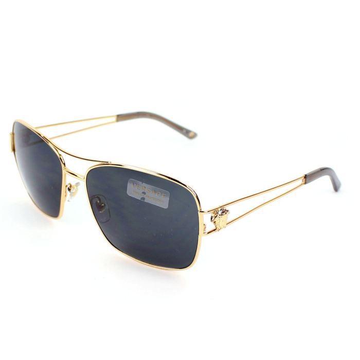 lunettes de soleil versace ve2138 or verres gris achat vente lunettes de soleil homme. Black Bedroom Furniture Sets. Home Design Ideas