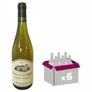 VIN BLANC Château Greffière Saint Veran Bourgogne 2015 - Vin