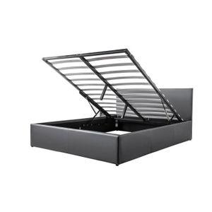 lit coffre 160 achat vente lit coffre 160 pas cher soldes cdiscount. Black Bedroom Furniture Sets. Home Design Ideas