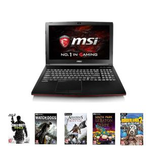 Pack MSI PC Portable Gamer GP62MVR 15\