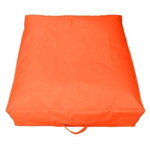 Maxi coussin carr 70 cm orange sp cial ext rieur for Housse coussin exterieur impermeable