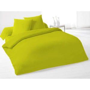 parure de lit vert achat vente parure de lit vert pas. Black Bedroom Furniture Sets. Home Design Ideas