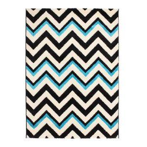 Tapis salon bleu turquoise achat vente tapis salon for Tapis vert turquoise