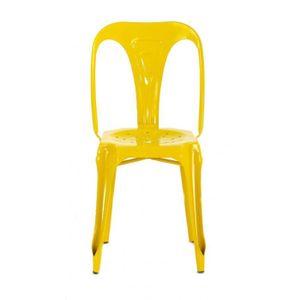 CHAISE 4x Chaise industrielle métal jaune brillant Indus