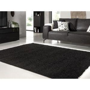 TAPIS TRENDY Tapis de salon Shaggy  noir 120x160 cm