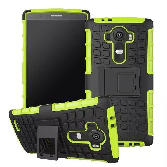 telephonie accessoires portable gsm secondlyn hybride dual layer etui pour lg g tough f  auc