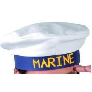 b ret de marin blanc bandeau bleu achat vente chapeau perruque cdiscount. Black Bedroom Furniture Sets. Home Design Ideas