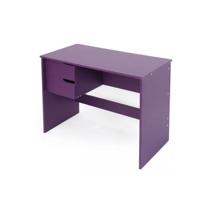 table de bureau violet avec 2 tiroirs achat vente bureau table de bureau violet avec cdiscount. Black Bedroom Furniture Sets. Home Design Ideas