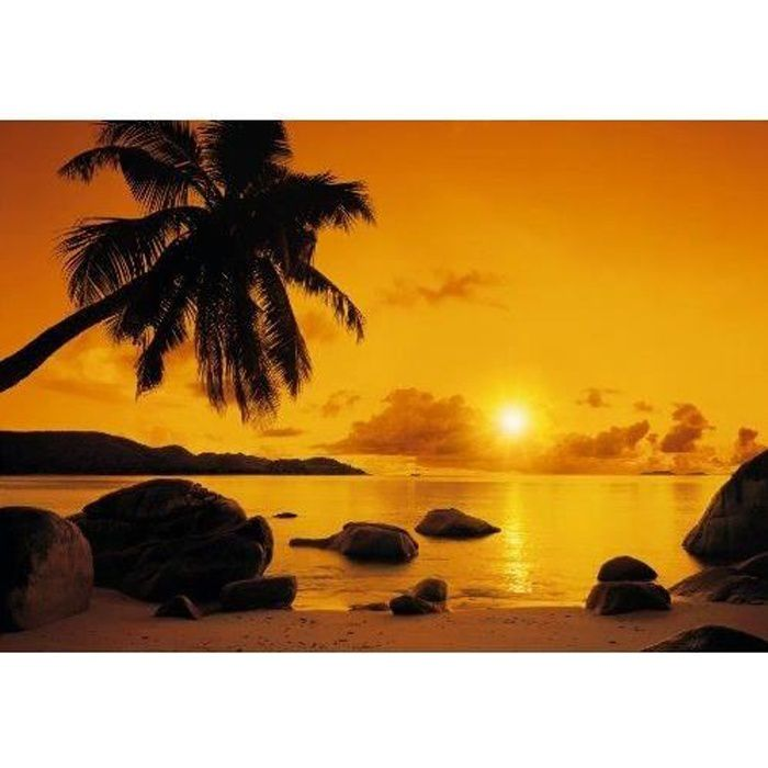 Poster mural coucher de soleil achat vente poster mural coucher de soleil pas cher les for Poster mural plage pas cher