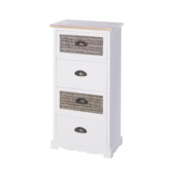 Meuble de rangement 4 tiroirs achat vente petit meuble - Petit meubles de rangement conforama ...