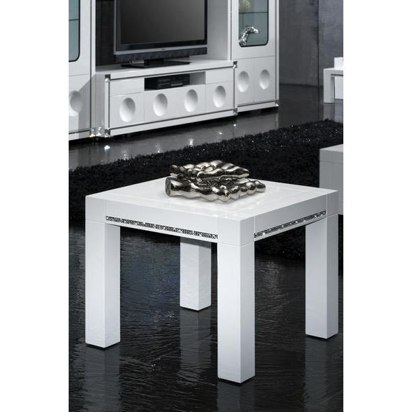 Table d 39 appoint laquee blanche haute brillance achat - Table d appoint haute ...