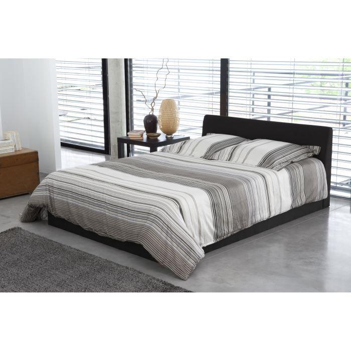 cosmo lit complet avec coffre noir 160x200 cm achat vente lit complet cosmo lit complet noir. Black Bedroom Furniture Sets. Home Design Ideas