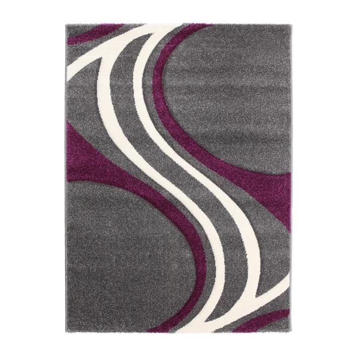 Tapis De Salon Nivala Gris Violet 120x160 Cm Achat