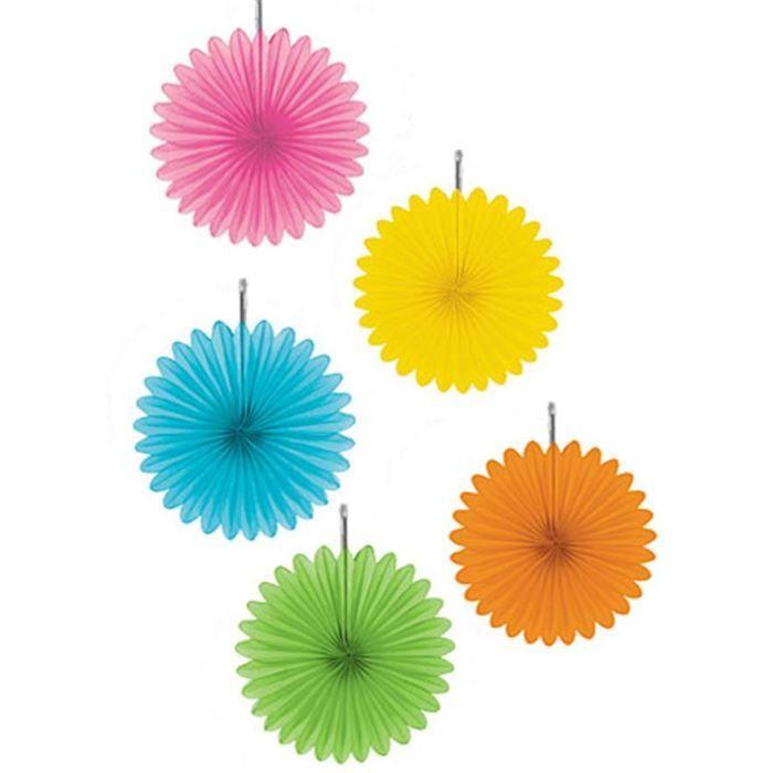5 fleurs de d coration fluo suspendre achat vente for Achat de decoration
