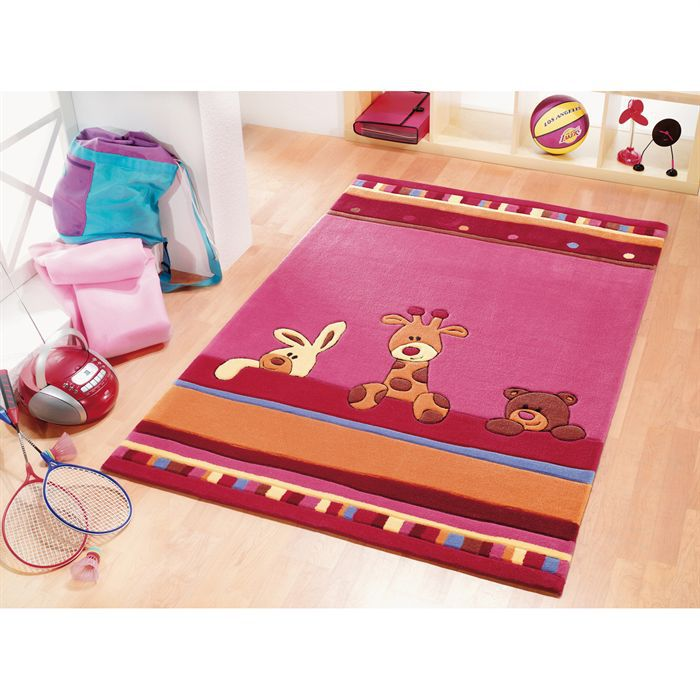 Tapis enfant lifestyle lilas 100 x 160 cm achat vente for Tapis rose chambre bebe