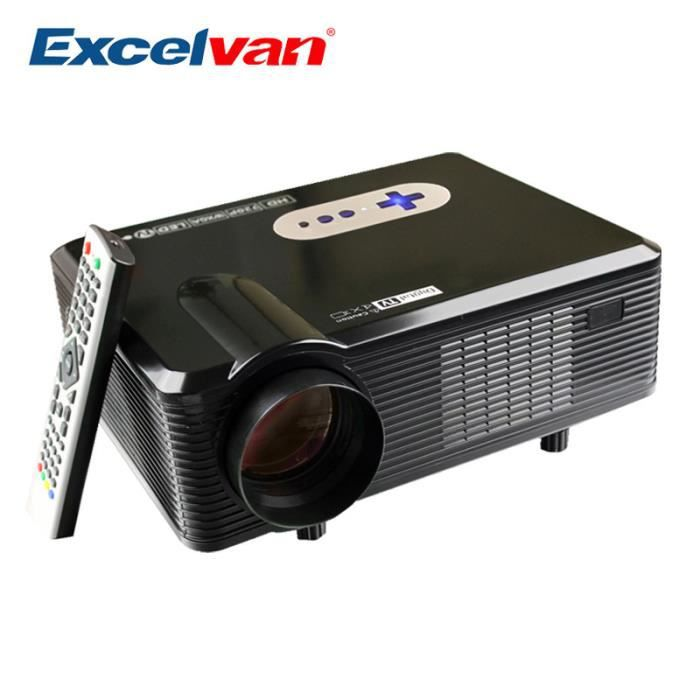 Excelvan Cl720 Full Hd Home Theater Projector 3000 Lumen: CL720 Support Projecteur 3000 Lumens HD Home Cinéma Native