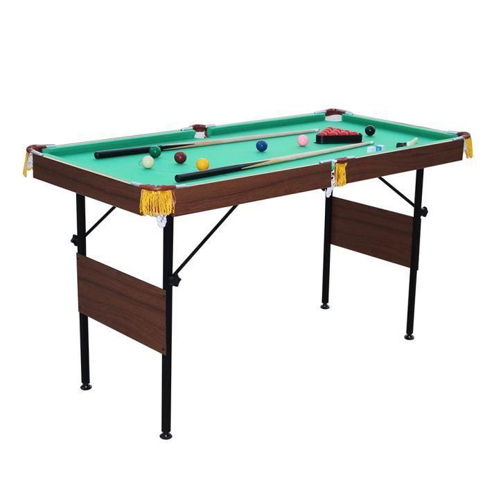 4 5 pieds table de billard avec 2 queue de billard jeu de for Dimension queue de billard