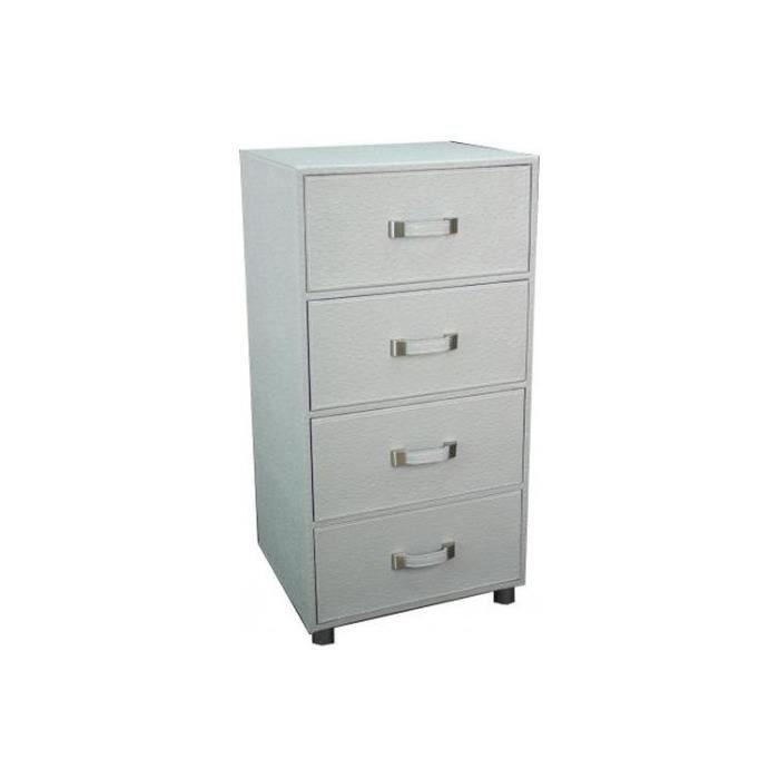 Colonne de rangement 3 tiroirs gris b ton pietra achat Petit meuble de rangement 3 tiroirs