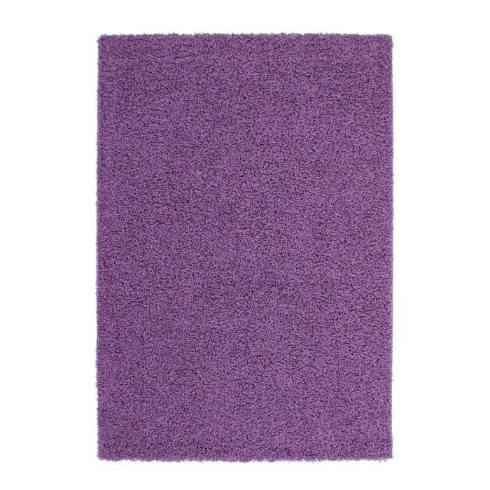 tapis de salon shaggy trendy 30mm 120x160cm violet achat. Black Bedroom Furniture Sets. Home Design Ideas