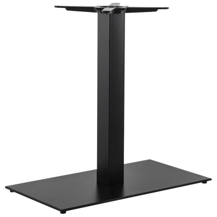 Pied de table 39 nero xl 39 75 en m tal peint noir achat for Table cuisine 75 x 75